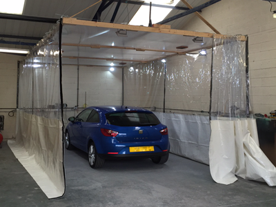 Spray Booth Curtains and Industrial Workshop Dividers